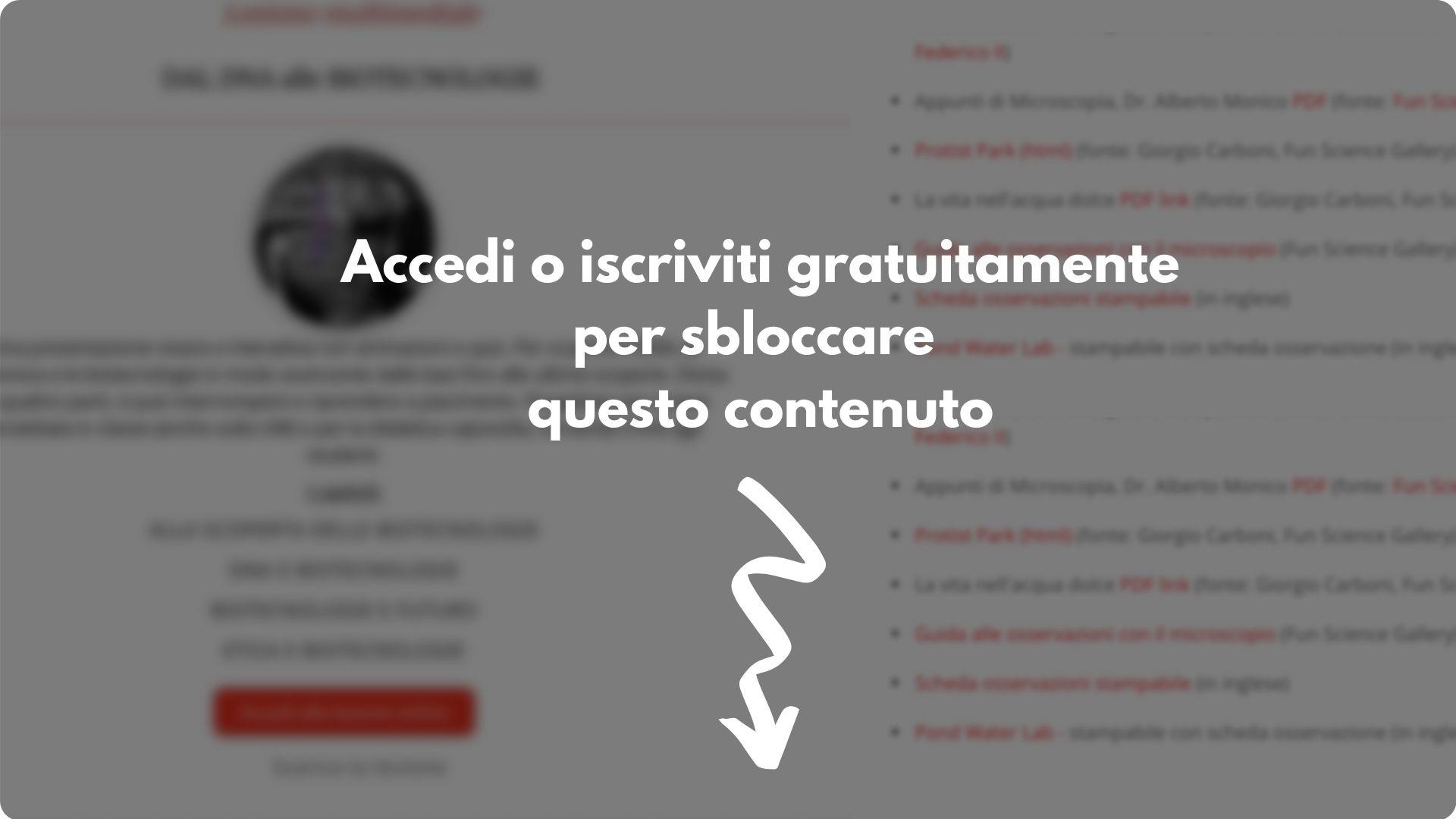Accedi o iscriviti gratuitamente (1)